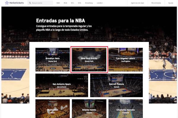 Proceso de compra entradas NBA