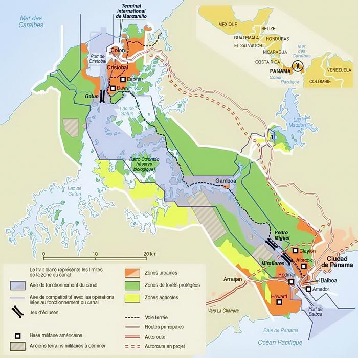 Mapa del Canal de Panama