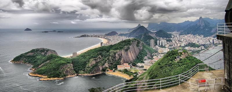 Nubes sobre Rio desde el Pan de Azucar
