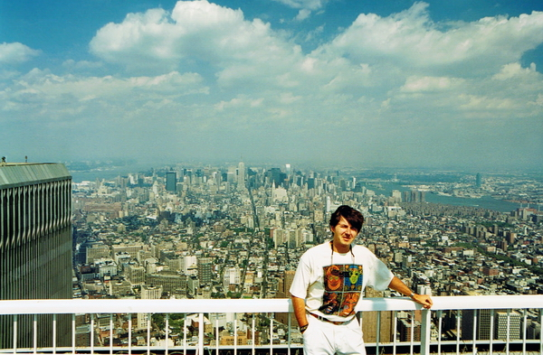 En el mirador Top of the World de la Torre Sur. 1994.