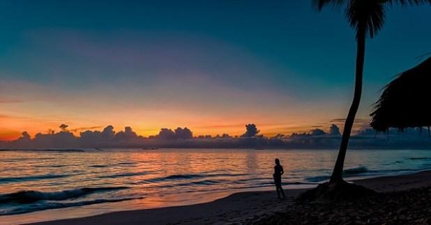 Puesta de sol en República Dominicana