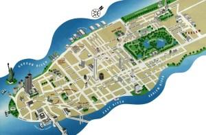 Mapa Manhattan