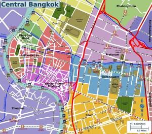 Mapa del centro de Bangkok