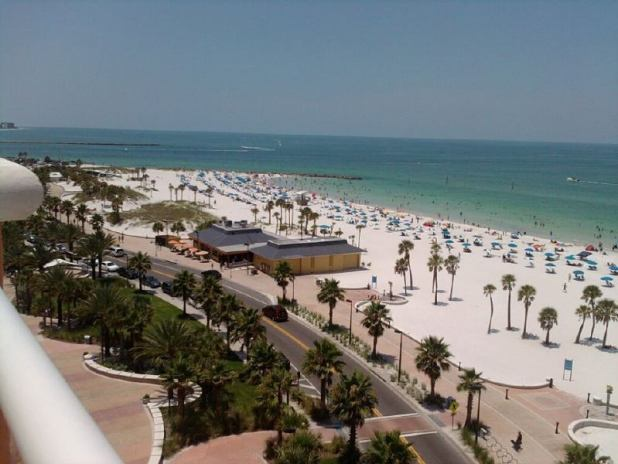 La playa de clearwater en Florida