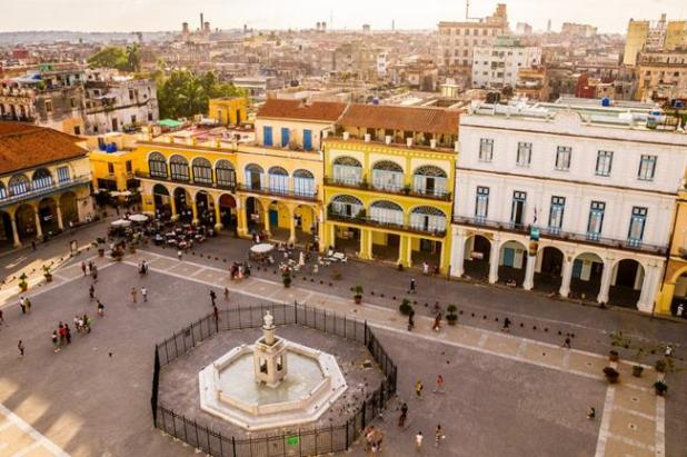 Vista de la Plaza Vieja de la Habana
