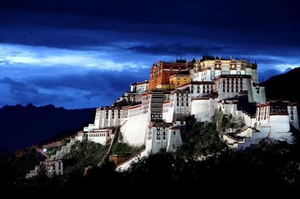 El Potala o templo de Lhasa en el Tíbet