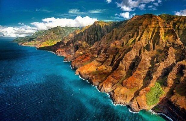 La costa de Pali en Kauai