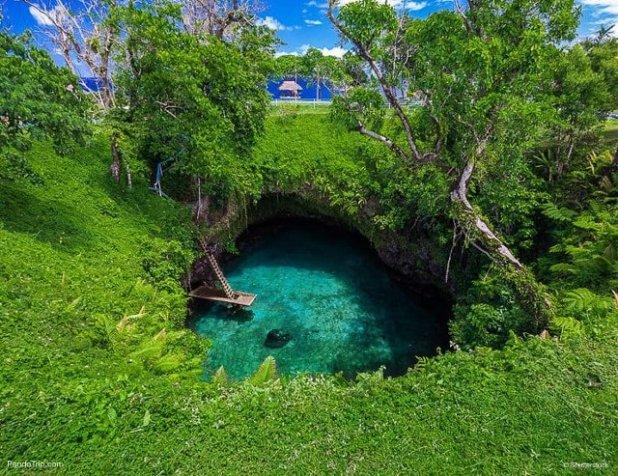 To Sua Oceano Trench Upolu isla Samoa