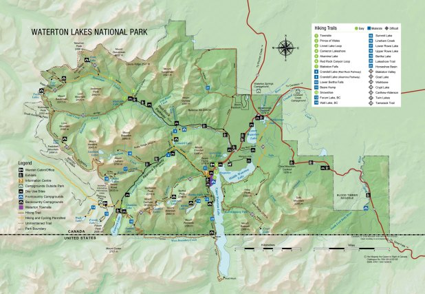 Mapa de waterton