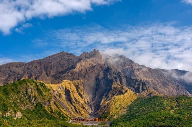 Sakurajima, Kyushu, Japón