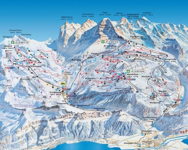 Mapa de pistas de Grindelwald