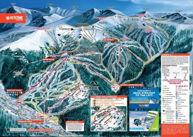 Mapa de pistas de esquí en Beaver Creek