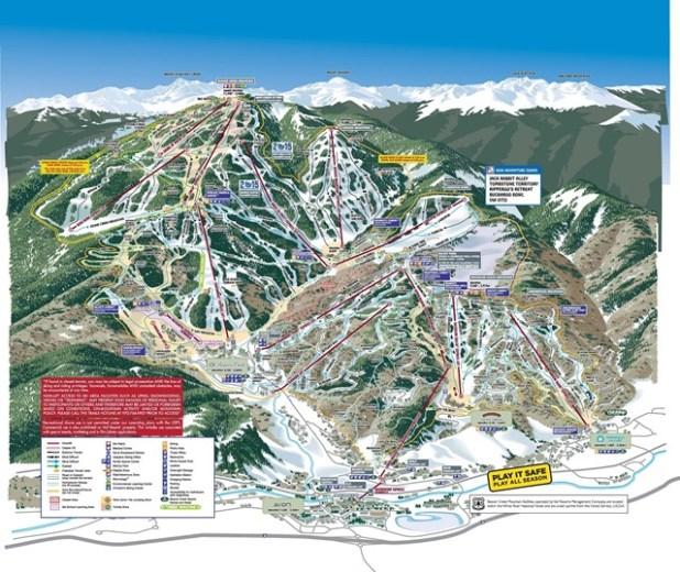 Mapa de pistas de esquí de Beaver Creek
