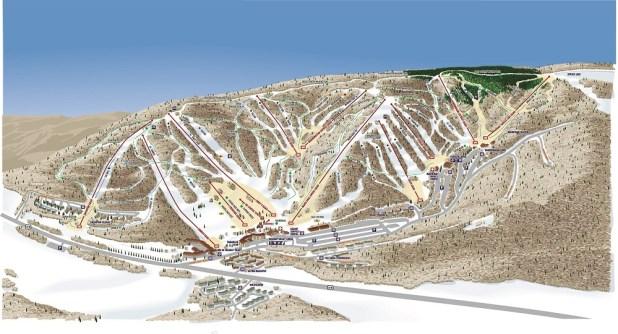 Holiday Valley mapa de pistas