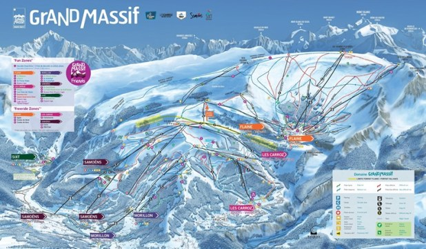 Mapa de pistas de Les Carroz
