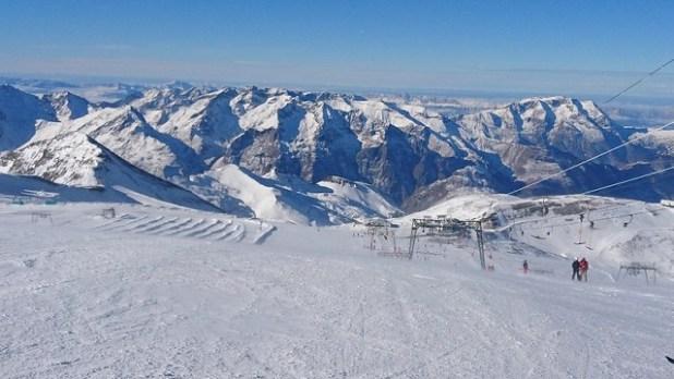 Esquiando en la Estación de esquí de Les 2 Alpes