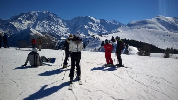 Esquiando en Megève (Francia)