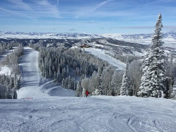Esquiando en Steamboat (Colorado)