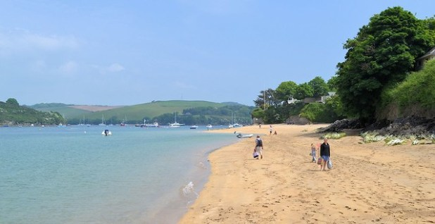 Playas de East Portlemouth, Devon, Inglaterra