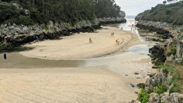 Playa de Guadamía (marea Baja)
