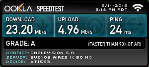 Test de velocidad del WiFi de Hotel Clásico