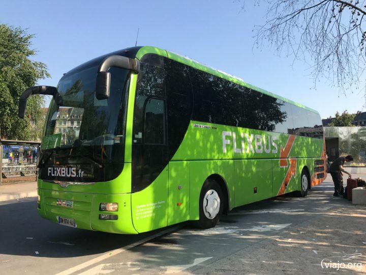 FlixBus en Estrasburgo (Francia)