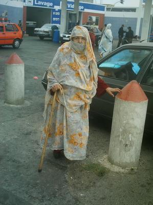 Anciana en Agadir