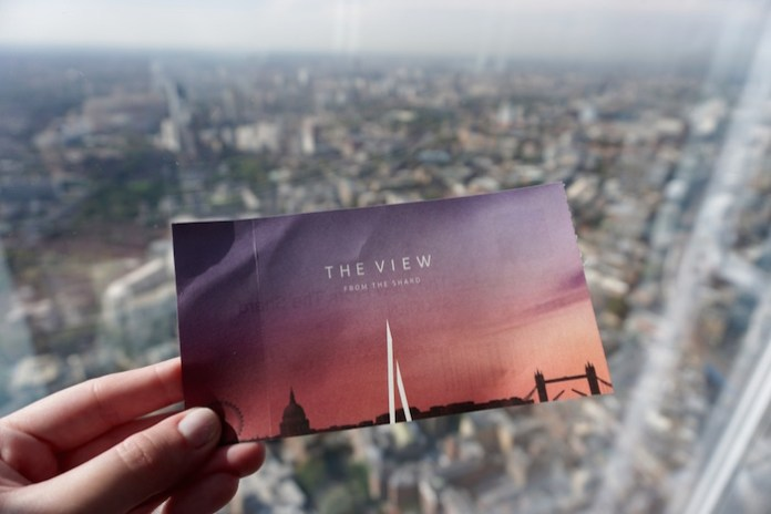 Ingresso do The View from The Shard