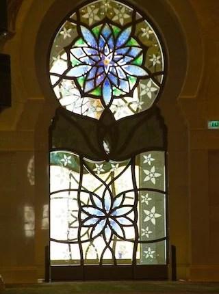 Porta Vitral na Mesquita de Abu Dhabi