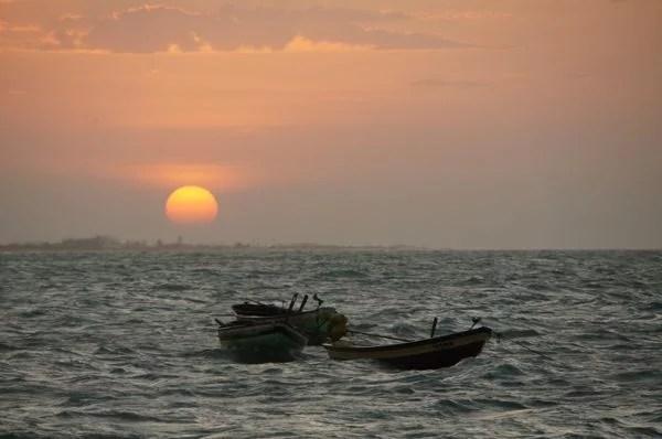 Pôr-do-sol em Barra Grande, Piauí