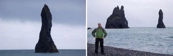 Formoções Geológicas Reynisdrangar na Islândia