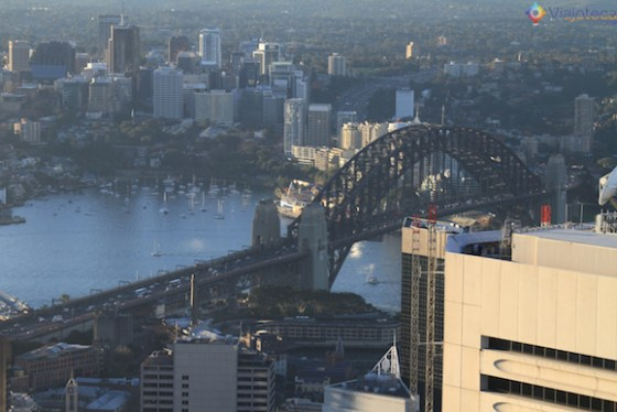 Visual da ponte do alto da Sydney Eye Tower