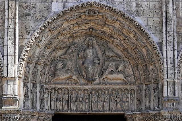 Catedral de Chartres porta real, ultimo julgamento