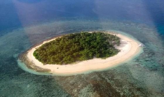 Ilha plana em Fiji