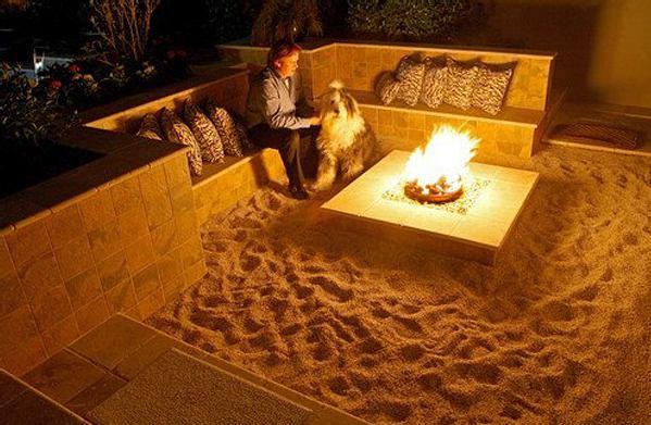 Terraza tipo playa californiana