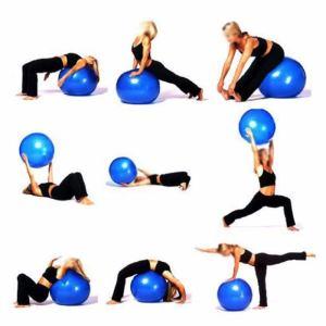 Ejercicios de pilates con pelota