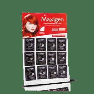 Maxigen Tinte Permanente en Polvo Sin Peróxido Rojo Intenso 27