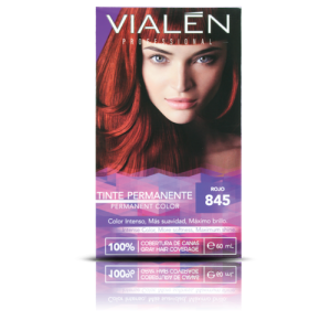 Vialen Tinte Permanente Color Rojo 845