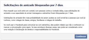 Amizade falsa no Facebook