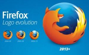 Evolução do logo do Firefox