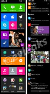 Esta é a interface do Normandy, o Android da Nokia