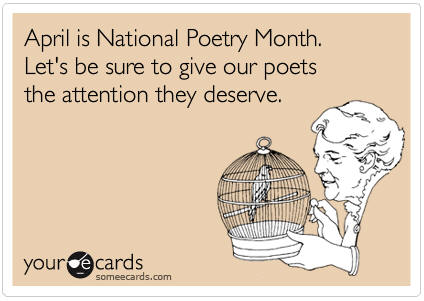 National Poetry Month greeting card #1