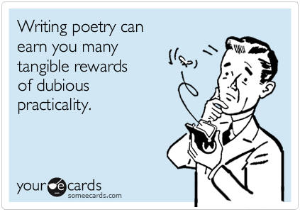 National Poetry Month greeting card