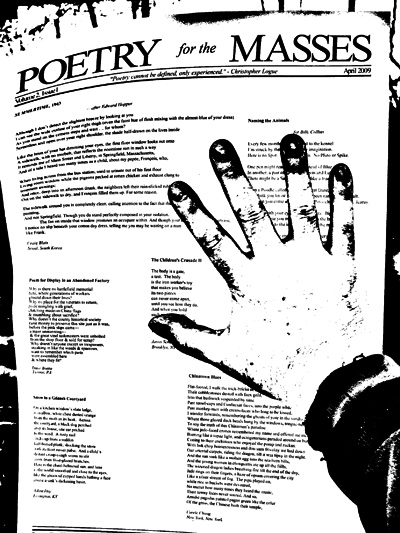 Poetry for the Masses broadsheet