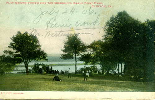 A postcard from 1906, written on but never sent