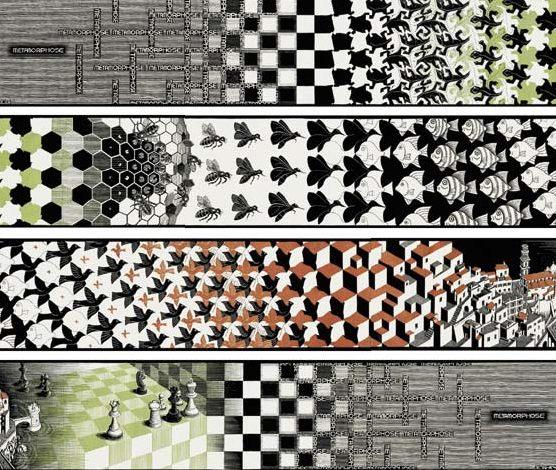 """Escher's """"Metamorphosis II"""""""