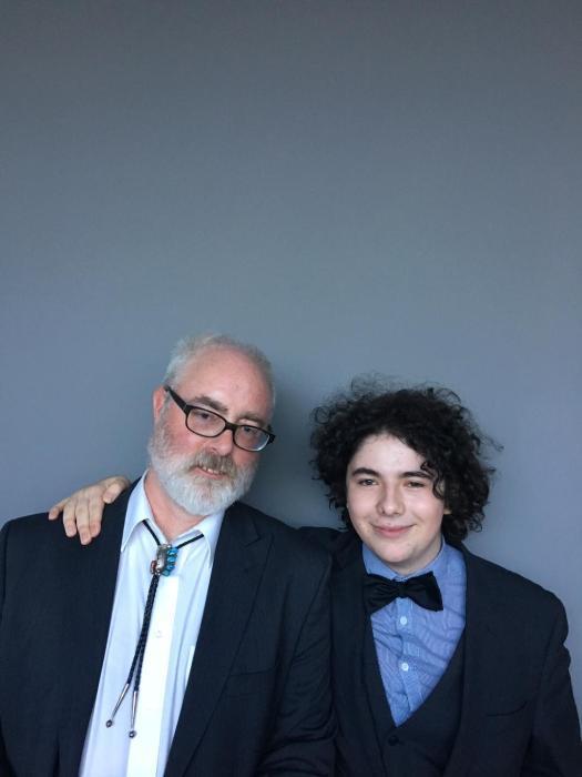 Dave with Alex Rawlins (photo by TC))