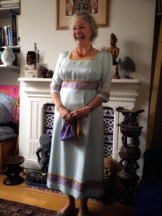 Rachel in her dress