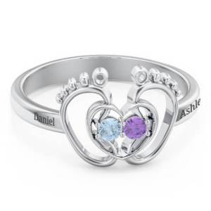 Little Footsteps Birthstone Ring