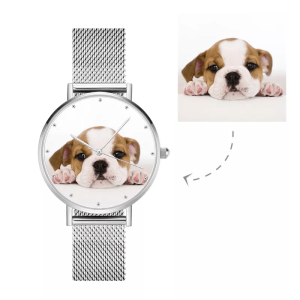 Womens Alloy Bracelet Photo Watch